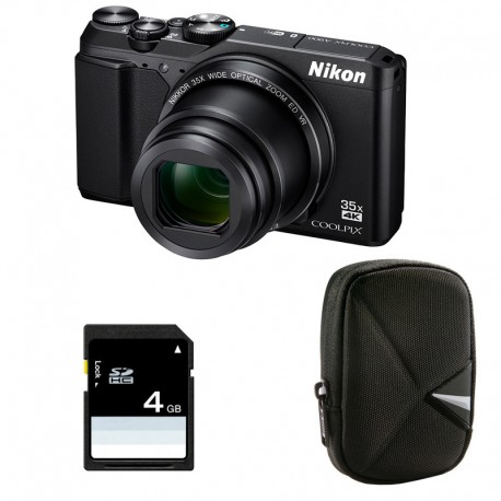 NIKON Compact Coolpix A900 NOIR + Etui + Carte SD 4 Go GARANTI 2 ans