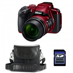 NIKON Bridge Coolpix B700 ROUGE + Etui + Carte SD 4 Go GARANTI 2 ans