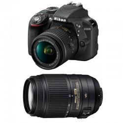 NIKON D3300 + 18-55 VR + 55-300 VR GARANTI 3 ans