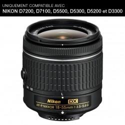 NIKON Objectif AF-P DX NIKKOR 18-55 mm f/3.5-5.6G GARANTI 2 ans