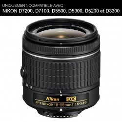 NIKON Objectif AF-P DX 18-55mm f/3.5-5.6G Garanti 2 ans