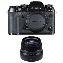 FUJIFILM X-T2 NOIR + 35 mm F2 WR GARANTI 3 ans
