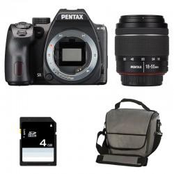 PENTAX K70 Noir + 18-55 DA-L WR GARANTI 3 ans + Sac + Carte SD 4Go