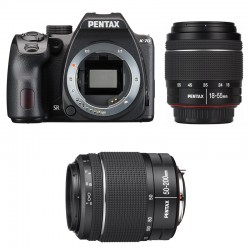 PENTAX K70 Noir + 18-55 DA-L WR + 50-200 DA-L WR GARANTI 3 ans