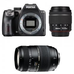 PENTAX K70 Noir + 18-55 DA-L WR + TAMRON 70-300 Di LD GARANTI 3 ans