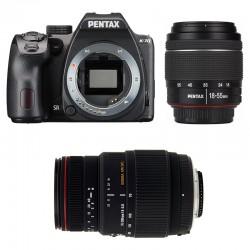 PENTAX K70 Noir + DAL 18-55 WR + SIGMA 70-300 DG APO MACRO GARANTI 3 ans