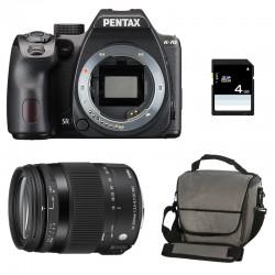 PENTAX K70 Noir + SIGMA 18-200 Contemporary GARANTI 3 ans + Sac + Carte SD 4Go