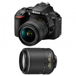NIKON D5600 + 18-55 VR + 55-200 VR GARANTI 3 ans