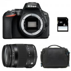 NIKON D5600 + SIGMA 18-200 Contemporary GARANTI 3 ans + Sac + SD 4Go