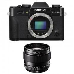 FUJIFILM X-T20 Noir + XF 23mm f/1.4 R Garanti 2 ans