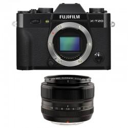 FUJIFILM X-T20 Noir + XF 35mm F1.4 Garanti 2 ans