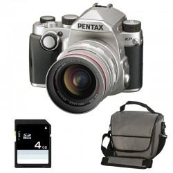 PENTAX KP SILVER + 20-40mm f/2.8-4 HD + Sac + SD 4Go Garanti 3 ans