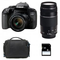 CANON EOS 800D + 18-55 IS STM + 75-300 III GARANTI 3 ans + Sac + SD 4Go