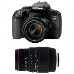 CANON EOS 800D + 18-55 IS STM + SIGMA 70-300 DG APO MACRO GARANTI 3 ans