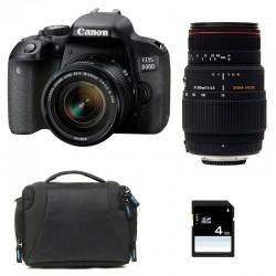 CANON EOS 800D + 18-55 IS STM + SIGMA 70-300 DG APO MACRO GARANTI 3 ans + Sac + Carte SD 4 Go