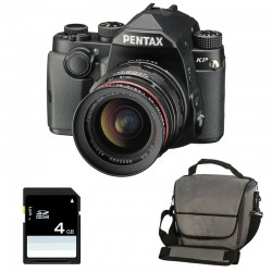 PENTAX KP NOIR + 20-40mm f/2.8-4 HD + Sac + SD 4Go GARANTI 3 ans