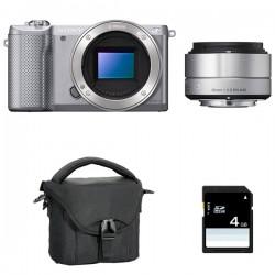 SONY ALPHA 5000 SILVER + SIGMA 30mm f/2.8 GARANTI 3 ans + Sac + SD 4 Go