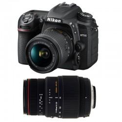 NIKON D7500 + 18-55 VR + SIGMA 70-300 DG APO MACRO GARANTI 3 ans