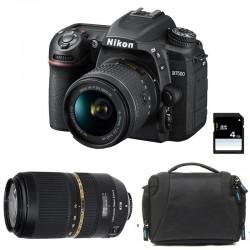 NIKON D7500 + 18-55 VR + TAMRON 70-300 VC USD Garanti 3 ans + Sac + Carte SD 4Go