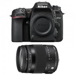 NIKON D7500 + SIGMA 18-200 Macro OS HSM Contemporary GARANTI 3 ans