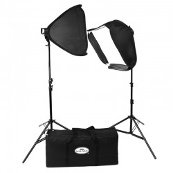 SAVAGE KIT 2 panneaux LED + Easy Softbox + Pieds + Sac de transport - LED-SB