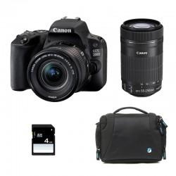 CANON EOS 200D + 18-55 IS STM + 55-250 IS STM GARANTI 3 ans + Sac + SD 4Go