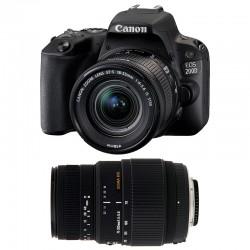 CANON EOS 200D + 18-55 IS STM + SIGMA 70-300 DG MACRO GARANTI 3 ans