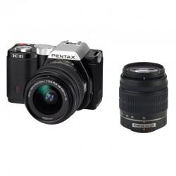 Occasion PENTAX K-01 Noir + Obj. Pentax DAL 18 - 55 mm + DAL 55-200