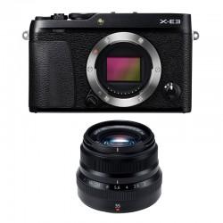 FUJIFILM X-E3 Noir + XF 35mm f/2 WR Garanti 3 ans