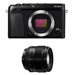 FUJIFILM X-E3 Noir + 56mm Garanti 3 ans