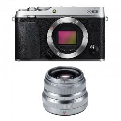 FUJIFILM X-E3 SILVER + XF 35mm f/2 WR Garanti 3 ans
