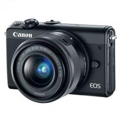 CANON EOS M100 NOIR + 15-45 GARANTI 3 ans + Coque CC-FJ001 marron + 50GB Irista