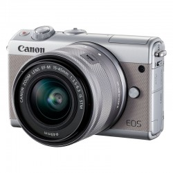 CANON EOS M100 GRIS + 15-45 GARANTI 3 ans + Coque CC-FJ001 jaune + 50GB Irista