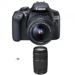 CANON EOS 1300D + 18-55 III + 75-300 III GARANTI 3 ans