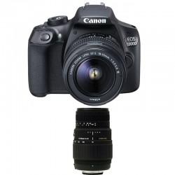 CANON EOS 1300D + 18-55 III + SIGMA 70-300 DG MACRO GARANTI 3 ans