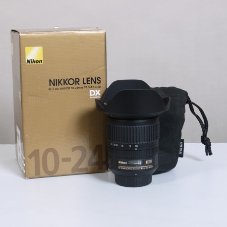 OCCASION NIKON Objectif AF-S DX 10-24 mm f/3.5-4.5 Zoom ultra grand angle-angle