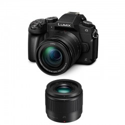 PANASONIC LUMIX G80 Noir + 12-60 f/3.5-5.6 + 25mm f/1.7 GARANTI 3 ans