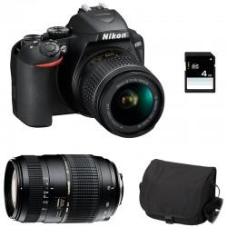 NIKON D3500 + 18-55 VR + TAMRON 70-300 DI Garanti 3 ans + Sac + SD 4Go