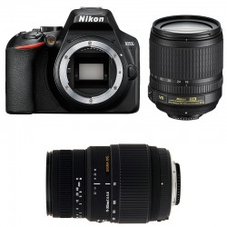 NIKON D3500 + 18-105 VR + SIGMA 70-300 DG MACRO