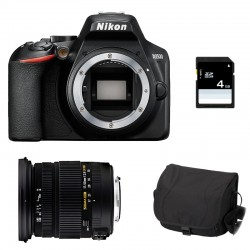 NIKON D3500 + SIGMA 17-50 DC OS HSM Garanti 3 ans + Sac + SD 4Go