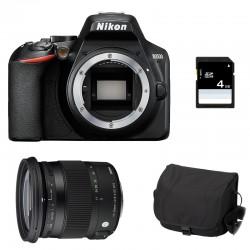 NIKON D3500 + SIGMA 17-70 CONTEMPORARY Garanti 3 ans + Sac + SD 4Go