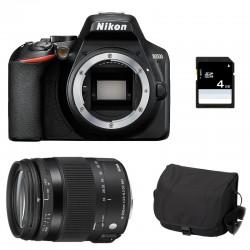 NIKON D3500 + SIGMA 18-200 OS HSM CONTEMPORARY Garanti 3 ans + Sac + SD 4Go
