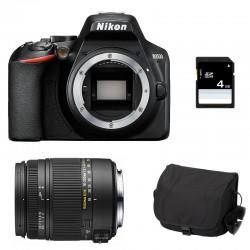 NIKON D3500 + SIGMA 18-250 DC OS MACRO GARANTI 3 ans + FT + SD 4Go