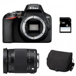 NIKON D3500 + SIGMA 18-300 OS HSM CONTEMPORARY Garanti 3 ans + Sac + SD 4Go