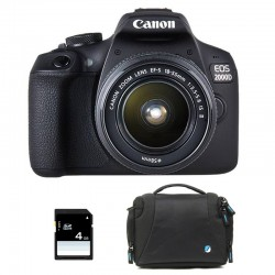 CANON EOS 2000D + 18-55 IS II Garanti 3 ans + Sac + SD 4Go