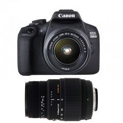 CANON EOS 2000D + 18-55 IS II + SIGMA 70-300 DG MACRO GARANTI 3 ans