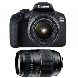 CANON EOS 2000D + 18-55 IS II + TAMRON 70-300 DI Garanti 3 ans