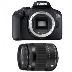CANON EOS 2000D + SIGMA 18-200 Macro OS HSM Contemporary Garanti 3 ans