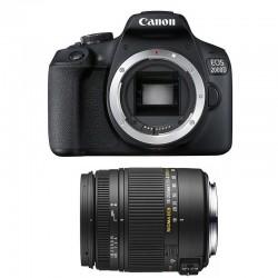CANON EOS 2000D + SIGMA 18-250 F3.5-6.3 DC MACRO OS Garanti 3 ans