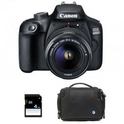 CANON EOS 4000D + 18-55 III Garanti 3 ans + Sac + SD 4Go